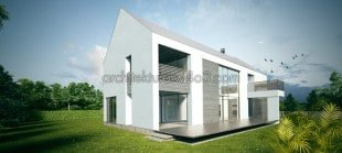 dom01 koncepcja domu jednorodzinnego