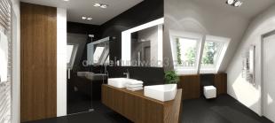 wnetrza domjednorodzinny łazienka - pokój kapielowy rodzicow