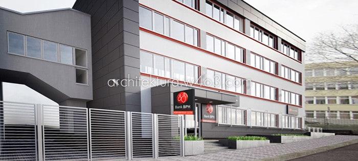bank bph, budynki użyteczności publicznej, architektura w4o3